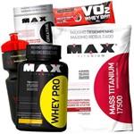 Combo Whey Protein 1kg + Hiper Calorico Mass 17500 3kg + Creatina Max