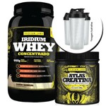 Combo - Whey Protein 900g + Creatina 300g + Coqueteleira - Iridium Labs