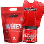 Kit Whey/way/wey Proten Concentrado + Glutamina 150g + Regata