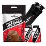 Combo Whey Wey Proten Hidrolisado Isolado Blend + ZMA Testosterona + Bcaa + Shaker