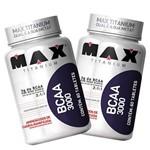 Combo 2x Bcaa 3000 - Max Titanium - 60 Tabletes