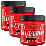 Combo 3x Glutamine Isolates - 300g - Integralmédica Powder