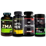 Combo Zma + Opti-men + Creatina + Bcaa + Beta-alanine On