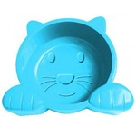 Comedouro Cat Face Azul