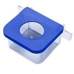 Comedouro Retangular 1 Furo Azul - Pequeno