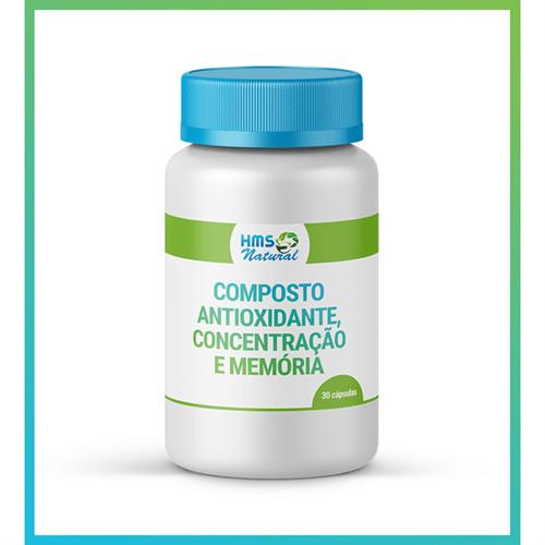 Composto Antioxidante, Concentração e Memória Cápsulas 30 Cápsulas