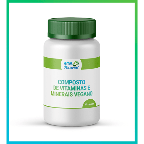 Composto Minerais e Vitaminas Cápsulas Vegan 60cápsulas