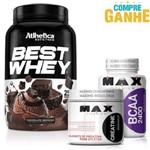 Compre Best Whey (900g) - Atlhetica Nutrition e Ganhe Bcaa 2400 (100 Cápsulas) e Creatina 100g - Max Titanium