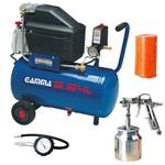 Compressor Ar 24l 2hp + Pintura 5 Peças 110v Gamma G2801kbr1