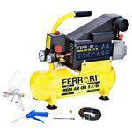Compressor de Ar Baixa Pressão 1 Hp 6 Litros Monofásico - C-6L - Ferrari (110V/220V)