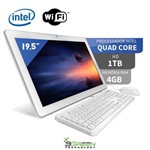 Computador All In One 19.5 Intel Quad Core 4gb 1tb Wifi Webcam 3green