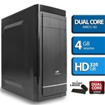 Computador Amd Dual Core, 4Gb Ram, 320Gb HD + Teclado e Mouse
