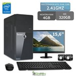 Computador com Monitor 15,6 Intel Dual Core 4GB HD 320GB 3GREEN Triumph Business Desktop