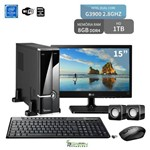 "Computador com Monitor 15"" Lg Dual Core G3900 8Gb HD 1Tb Wifi 3Green Triumph Business Desktop New"