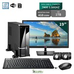 Computador com Monitor 19 LG Intel Core I5 7400 4GB 1Tb Wifi 3Green Triumph Business Desktop