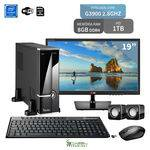 "Computador com Monitor 19"" Lg Intel Dual Core G3900 8Gb 1Tb Wifi 3Green Triumph Business New"