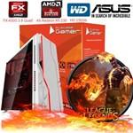 Computador Cpu Pc Computador AMD Gamer Fx4300 Quad Core 4gb Ati Radeon R5 230 Bg-009 Branco