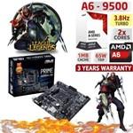 Computador CPU Pc Gamer Amd A6 9500 Dual Core DDR4 4gb APu Ati Radeon R5 230 BG-007 Preto