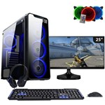 Computador Gamer Completo com Monitor Easy PC AMD A10 9700 3.8Ghz (Radeon R7 2GB) 8GB DDR4 1TB LED 25 Ultrawide LG