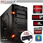 Computador Gamer Gt, Amd A4 7300, 16Gb Ram, HD 8470D, Ssd 120Gb, Windows 7 + Kit Gamer