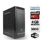 Computador Gráfico Basic Dual Core, 4GB Ram, HD 500GB, Wifi