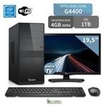 Computador 3green Intel Dual Core Pentium G4400 4gb Ddr4 1tb com Tv Monitor Lg 19.5 20mt49df-ps