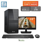 """Computador 3green Select Intel Core I3 7100 8GB 1TB Monitor 15"""" Lg 16M38A"""