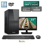 "Computador 3green Select Intel Core I5 7400 4GB 500GB DVD Monitor 15"" Lg 16M38A"