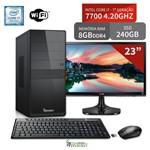 Computador 3green Select Intel Core I7 7700 8GB SSD 240GB Wifi Monitor 23 LG 23MP55 HQ