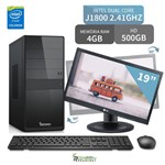 "Computador 3green Triumph Intel Dual Core 4GB 500GB Monitor 19"" Lg 20M35PD-M"