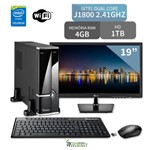 "Computador 3green Triumph Mini Intel Dual Core 4GB 1TB Wifi Monitor 19"" Lg 20M37A"