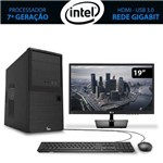 Computador Home&office Intel Core I3 7ª Geração 7100 4gb 1tb com Monitor 19.5 Lg 3green