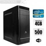 Computador Intel Core I5 4° Geração, 4GB, HD 500Gb, WIFI