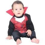 Conde Drácula Fantasia Macacão para Bebê - Tamanho P