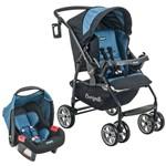 Conj. Carrinho de Bebê At6 K + Touring Evolution se Preto/azul