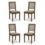 Conjunto 4 Cadeiras de Jantar Violet Capuccino - ID Madeiras