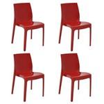 Conjunto 4 Cadeiras Tramontina Alice Vermelho 92037040