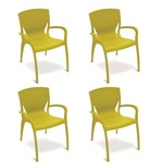 Conjunto 4 Cadeiras Tramontina Clarice Verde 92040020