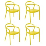 Conjunto 4 Cadeiras Tramontina Sissi Amarelo 92045000