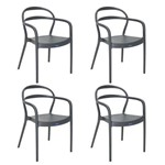 Conjunto 4 Cadeiras Tramontina Sissi Grafite 92045007