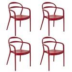 Conjunto 4 Cadeiras Tramontina Sissi Vermelho 92045040