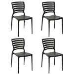 Conjunto 4 Cadeiras Tramontina Sofia Marrom 92237109