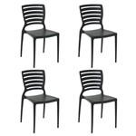 Conjunto 4 Cadeiras Tramontina Sofia Preto 92237009