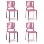 Conjunto 4 Cadeiras Tramontina Sofia Rosa 92035060