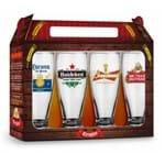 Conjunto 4 Copos Munich - Sátiras Cervejas - Cervejas Internacionais