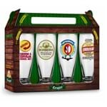 Conjunto 4 Copos Munich - Sátiras Cervejas - Cervejas Nacionais