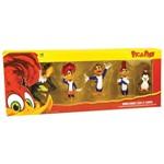 Conjunto 5 Figuras Colecionáveis 10 Cm - Pica-Pau - o Show da Turma - Brincando com a Turma - Dtc