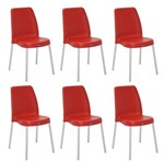 Conjunto 6 Cadeiras Tramontina Vanda Vermelho 92053040