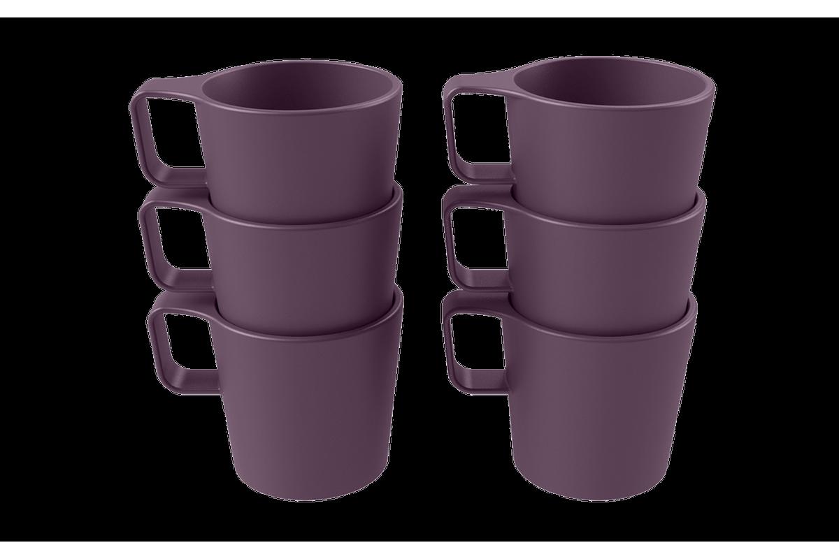 Conjunto 6 Canecas Empilháveis Casual 45ml Roxo Púrpura Coza