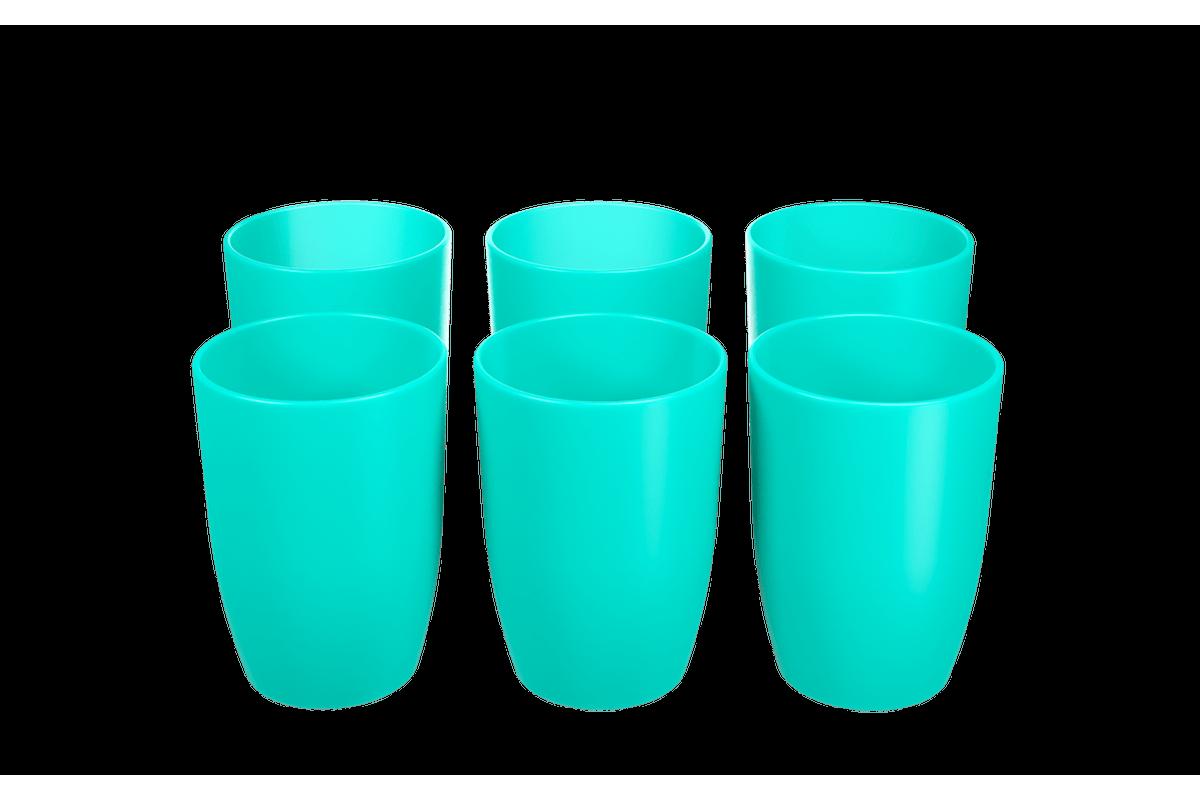 Conjunto 6 Copos Cozy 275 ML 7,4 X 7,4 X 10,2 Cm Verde Coza
